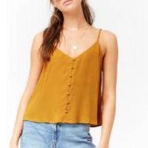 Forever 21 Mustard Button Front Cami